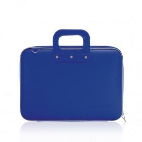 """Mallette PC Portable 13"""" BOMBATA MEDIO CLASSIC vinyle BLEU COBALT - 38x29x7cm"""