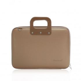 "Mallette PC Portable 13"" BOMBATA MEDIO CLASSIC vinyle TAUPE - 38x29x7cm"