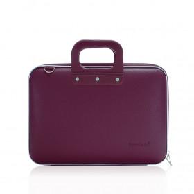 "Mallette PC Portable 13"" BOMBATA MEDIO CLASSIC vinyle PRUNE - 38x29x7cm"
