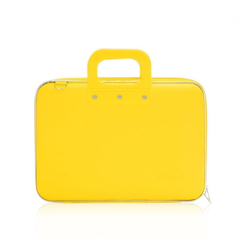 mallette pc portable 13 bombata medio classic vinyle jaune mandarin 38x29x7cm agenda discount. Black Bedroom Furniture Sets. Home Design Ideas