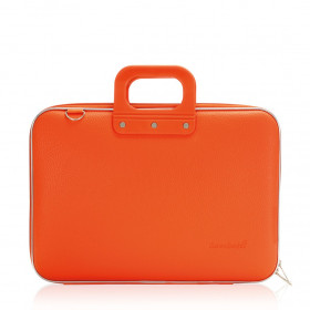 "Mallette PC Portable 15"" BOMBATA CLASSIC vinyle ORANGE - 43x33x7cm"