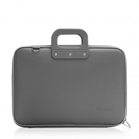 """Mallette PC Portable 15"""" BOMBATA CLASSIC vinyle GRIS FONCE - 43x33x7cm"""
