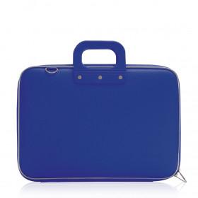 """Mallette PC Portable 15"""" BOMBATA CLASSIC vinyle BLEU COBALT - 43x33x7cm"""