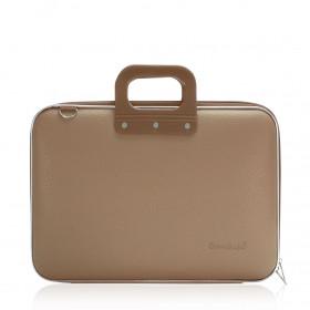 "Mallette PC Portable 15"" BOMBATA CLASSIC vinyle TAUPE - 43x33x7cm"