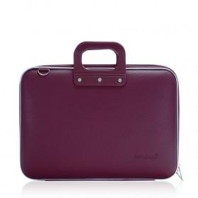 "Mallette PC Portable 15"" BOMBATA CLASSIC vinyle PRUNE - 43x33x7cm"