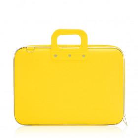 """Mallette PC Portable 15"""" BOMBATA CLASSIC vinyle JAUNE MOUTARDE - 43x33x7cm"""