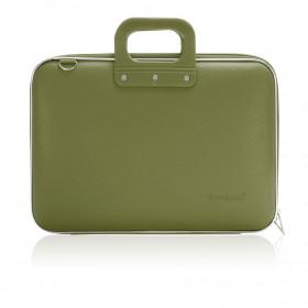 "Mallette PC Portable 15"" BOMBATA CLASSIC vinyle KAKI - 43x33x7cm"