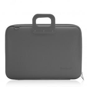 """Mallette PC Portable 17"""" BOMBATA CLASSIC vinyle GRIS FONCE - 46,5x35x8cm"""