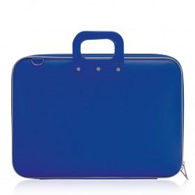 """Mallette PC Portable 17"""" BOMBATA CLASSIC vinyle BLEU COBALT - 46,5x35x8cm"""