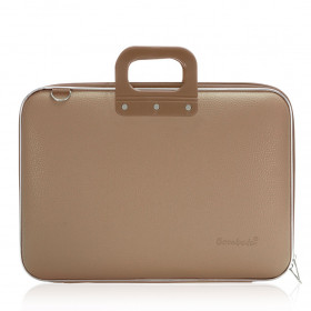 "Mallette PC Portable 17"" BOMBATA CLASSIC vinyle TAUPE - 46,5x35x8cm"