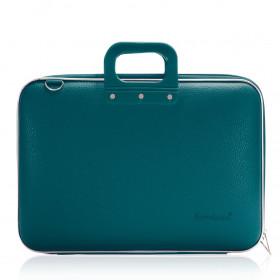 """Mallette PC Portable 17"""" BOMBATA CLASSIC vinyle BLEU PETROLE - 46,5x35x8cm"""