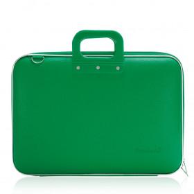 """Mallette PC Portable 17"""" BOMBATA CLASSIC vinyle VERT FORET - 46,5x35x8cm"""