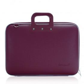 "Mallette PC Portable 17"" BOMBATA CLASSIC vinyle PRUNE - 46,5x35x8cm"