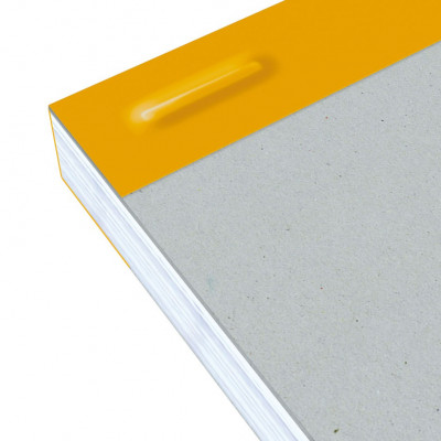 Bloc-notes A4 OXFORD gris 160 pages perforées - carreaux 5x5mm - 210x315mm