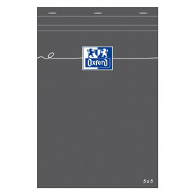 Bloc-notes A5 OXFORD gris 160 pages - carreaux 5x5mm - 148x210mm