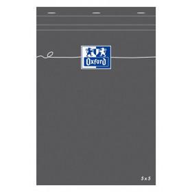 Bloc-notes A5 OXFORD gris 160 pages - carreaux 5x5mm - 148x210mm