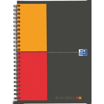 Répertoire A5 à spirale ADDRESSBOOK OXFORD International 144pages - 148x210mm