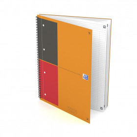 Cahier A4+ à spirale NOTEBOOK Connect OXFORD International 160pages - ligné - 230x297mm