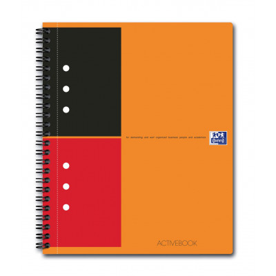 Cahier A5 à spirale ACTIVEBOOK OXFORD 160 pages - ligné - 178x210mm