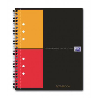 Cahier A5 à spirale ACTIVEBOOK OXFORD 160pages - carreaux 5x5mm - 178x210mm