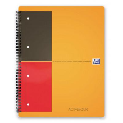 Cahier A4+ à spirale ACTIVEBOOK OXFORD 160pages - ligné - 240x297mm