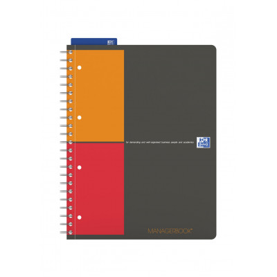Cahier A4+ à spirale MANAGERBOOK OXFORD International - spécial projet - 233x298mm