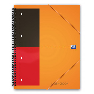 Cahier-chemise A4+ spirale MEETINGBOOK OXFORD International 160pages - ligné - 240x310mm