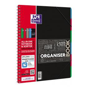 Cahier-Trieur spirale ORGANISERBOOK OXFORD pour étudiants 160pages - carreaux 5x5mm - 245x310mm