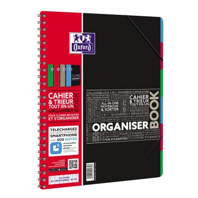 Cahier-Trieur spirale ORGANISERBOOK OXFORD pour étudiants 160pages - seyes - 245x310mm