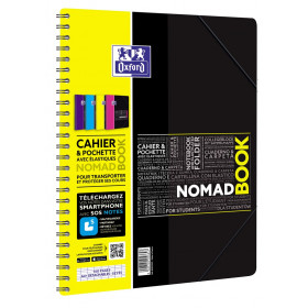 Cahier-chemise A4+ spirale NOMADBOOK OXFORD étudiants 160pages - seyes - 240x310mm