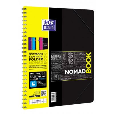 Cahier-chemise A4+ spirale NOMADBOOK OXFORD étudiants 160pages - carreaux 5x5mm - 240x310mm