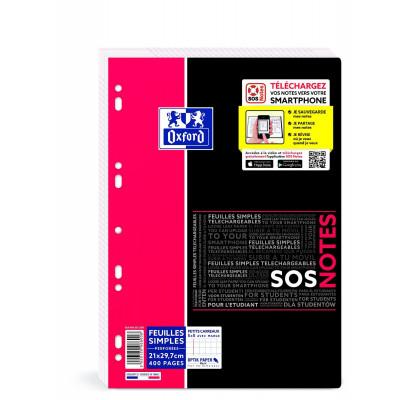400 feuilles simples OXFORD Etudiants - carreaux 5x5mm - 210x297mm