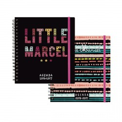 Agenda EXACOMPTA SAD 18 W Little Marcel spirale (COLORIS ALEATOIRES) - 170x150mm