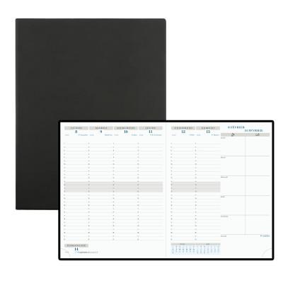 Agenda EXACOMPTA Horizon 27 - 27 x 21 cm - 1 semaine sur 2 pages coloris noir