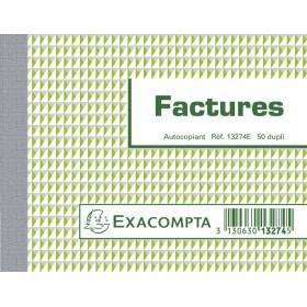 Manifold EXACOMPTA Factures 10,5x13,5cm - 50 feuillets dupli autocopiants
