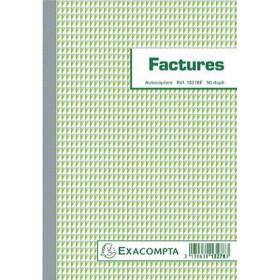 Manifold EXACOMPTA Factures 21x15cm - 50 feuillets dupli autocopiants