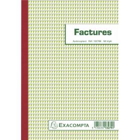 Manifold EXACOMPTA Factures 21x15cm - 50 feuillets tripli autocopiants