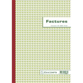Manifold EXACOMPTA Factures 29,7x21cm - 50 feuillets tripli autocopiants
