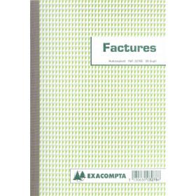 Manifold A5 Factures EXACOMPTA avec mention TVA - 50 feuillets dupli autocopiants