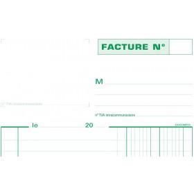 Manifold A5 Factures EXACOMPTA avec mention TVA - 50 feuillets tripli autocopiants