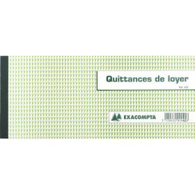 Carnet à souche EXACOMPTA - 50x Quittances de loyer - 10,1x16,5 cm- format horizontal