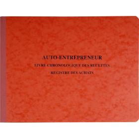 Piqûre Spécial auto-entrepreneurs - 24x32cm EXACOMPTA (4410E) Livre chronologique des recettes - Registre des achats - 80 pages