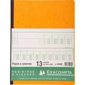 Piqûre 32x25cm EXACOMPTA (4130E) 13 colonnes sur 2 pages - 33 lignes - 80 pages