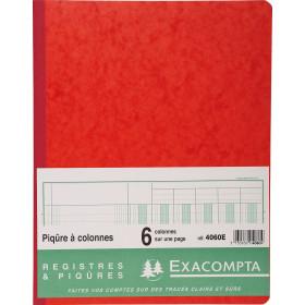Piqûre 32x25cm EXACOMPTA (4060E)6 colonnes sur 1 page - 31 lignes - 80 pages