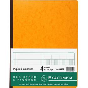 Piqûre 32x25cm EXACOMPTA 4040E 4 colonnes sur 1 page - 31 lignes - 80 pages