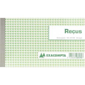 Manifold EXACOMPTA Reçus 10,5x18cm - 50 feuillets dupli autocopiants