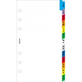 Recharge FILOFAX organiseur PERSONAL - Intercalaire alphabétique couleur - 95x171mm