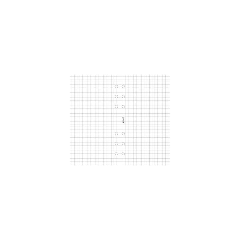 Recharge FILOFAX organiseur PERSONAL - Feuille de notes 5x5mm blanc - 95x171mm