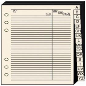 Recharge QUOVADIS Répertoire téléphonique Ivoire - 21x29.7cm pour Timer 29