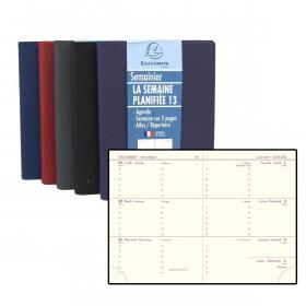 Agenda EXACOMPTA de poche Cassandra - 130x90mm - 1 semaine sur 2 pages (COLORIS ALEATOIRES)